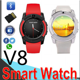 $enCountryForm.capitalKeyWord Australia - V8 Smart Watch With Sim TF Card Slots Bluetooth Smart Watches For Android Cellphones 0.3M Camera Smart Watch With Retail Package V814