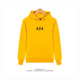 d1de35d6bfb Asian Hoodie NZ - 424 Designer Hoodies Casual Hooded Pullover Male Printed  High Street Hip Hop