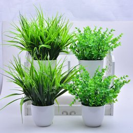 Discount quality fake plants - 2019 New 5 Types Artificial Grasses Plastic Plant Fake Grass Home Decoration Flowers Best quality direct sold by factory
