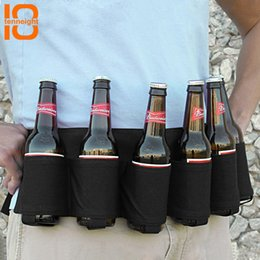 Wholesale TENNEIGHT Pack Beer hiking outdoor party beer belt carrying a drink bag Belt Adjustable Bottles Beverage Can Holder