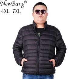 d00694de22a NewBang Brand Plus 7XL Ultra light Down Jacket Men Lightweight Men s Down  Coat Male Warm Portable Windbreaker Feather Parka Y181101