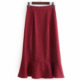 223bd657a 2018 Boho Women Bottom High Waist Ruffle Skirt Bohemian Moon Star Floral  Print Midi Korean Fashion Skirts
