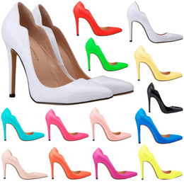 $enCountryForm.capitalKeyWord NZ - 13 Colors Sexy Womens Shoes Pumps 11CM High Heels Pointed Toes Corset Style Work Wedding Pumps Court Shoes