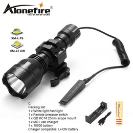Flash Drive Battery NZ - AloneFire C8s CREE XM-L2 LED 5 Mode Tactical flashlight High Quality Lanterna LED Lamp Torchlight hunting Flash light for 1x 18650 battery