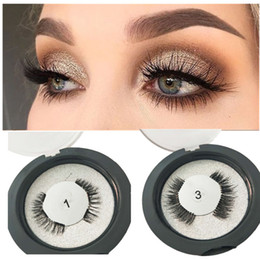 Wholesale 3 Magnets Eyelashes Clear Band False Eyelashes magnets Reusable D Mink Magnetic Extension Fake Eye Lashes Soft Easy Wea