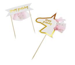 $enCountryForm.capitalKeyWord NZ - Boys Girls Cupcake Topper For Birthday Unicorn Party Decor Happy Birthday Cake Topper Birthday Party Decoration Kids