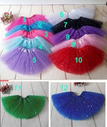 brown pink tutu Australia - Tutu Skirt Baby Girls Glitter Tulle Skirts Ballet Tutus Skirts Dance Party Skirt Fluffy 3 Layer Tutus Pettiskirt