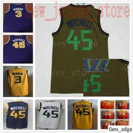 College New Army Green 45 Donovan Mitchell Jersey Stitched White City  Orange 27 Rudy Gobert Blue Yellow Pueple Retro  3 Ricky Rubio Jerseys fc280579e