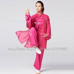 Boy Chinese Suit Australia - Chinese Taichi clothing Kungfu uniform taiji boxing suit performance outfit embroidery garment for women men girl boy children adults kids