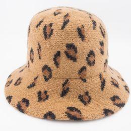 0a2c609b41399 100% Wool Felt Cloche Hat Woman Autumn Winter Bucket hats Beautiful Leopard  ladies hat Professional Hat Wholesale Nice Gift for Girls MH1859