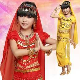 Discount indian belly dance dress - oriental dance costumes indian dress for kids girls children dresses india belly dance clothes for sale bellydance child