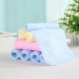 Nappy Cotton Liner Inserts NZ - 10 pcs microfiber Newborn Liner Insert For Baby Cloth Diaper Nappy Natural Bamboo Washable Ecological cotton diaper Drop ship