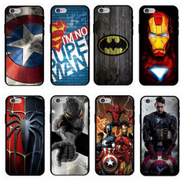 Iphone Ironman Canada - Marvel Avengers Superman Case Soft TPU Batman Dark Knight Spider Ironman Captain America Shield Cover For iPhone XS Max XR X 8 Plus 7 6 6S 5