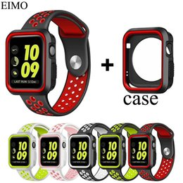band cases 2019 - Silicone Watch Strap+Watch Case Band 42mm 38mm Replacement Band+full protector case 3 2 1 Accessories cheap band cases