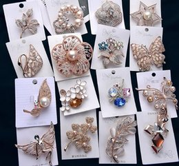 Crosses for Crafts online shopping - 10pcs Mix Style Fashion Crystal Jewelry Brooches Pins For Jewelry Craft Gift BR13