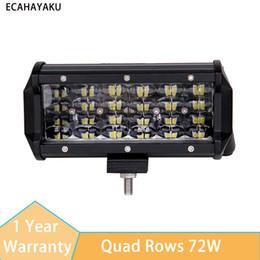 $enCountryForm.capitalKeyWord NZ - ECAHAYAKU 7Inch 72W 7200LM Modified Car Top LED Light with Quad Rows light Bars 6000K for Off-road Car Pickup Wagon ATV SUV UTE