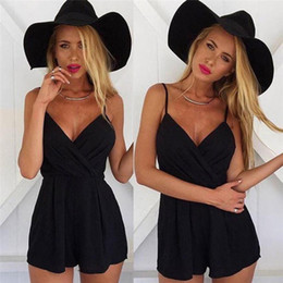 $enCountryForm.capitalKeyWord NZ - Women Summer Bodysuit Rompers Womens Jumpsuit Sexy Backless Black Shorts Bodycon Jumpsuits V Neck Apparel combinaison femme