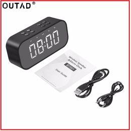 mini digital screens 2019 - OUTAD Bluetooth V5.0 TF Card AUX Play Wireless Mini Dual Speakers LED HD Large Screen Digital Display Intelligent Alarm