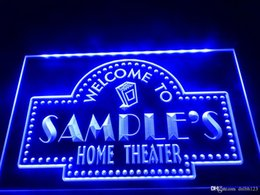 custom home bar signs 2019 - DZ009b- Name Personalized Custom Home Theater Bar LED Neon Beer Sign