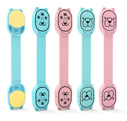 Child Lock Protection of Children Locking Doors Cartoon Shape Plastic Safety Furniture Lock for Baby Kids on Sale
