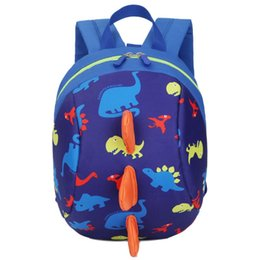Chinese  Baby Toy School Bag Cartoon Dinosaur Print Mini Plush Backpack Kids Outdoor Travel Pack Bag Student Kindergarten BagsNew manufacturers
