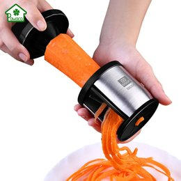 $enCountryForm.capitalKeyWord Australia - Handheld Spiral Slicer Vegetable Spiralizer Stainless Steel Manual Grater Vegetable Shred Cutter with CleaningBrush Kitchen Tool