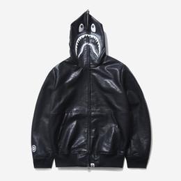 $enCountryForm.capitalKeyWord NZ - autumn and winter head shark embroidery leather sweatshirt mens hoodies men sweatshirts sudadera hombre jacket streetwear men clothes 463