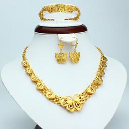 Thai earrings online shopping - CLASSICS ETERNAL PRETTY K THAI BAHT YELLOW GP GOLD NECKLACE PENDANT EARRINGS BRACELET JEWELRY SETS MAGNIFICENT