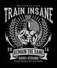 4e9d8a4794a 2018 Short Sleeve Cotton T Shirts Man Clothing Train Insane Muscle Mens T- Shirt Black Tee100% Cotton Print Mens Summer O-Neck