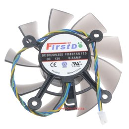 Discount 12v fan for cooling - FD8015U12S 75mm 12V 0.5A 4 Wire computer cooler Fan radiator for Radeon HD 7770 8600 9800g video Graphics Card cooling