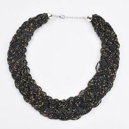 $enCountryForm.capitalKeyWord UK - Vintage Beaded Handmade Chunky Chain Bib Choker Collar Statement Necklace Ethnic Maxi Necklaces For Women 2017