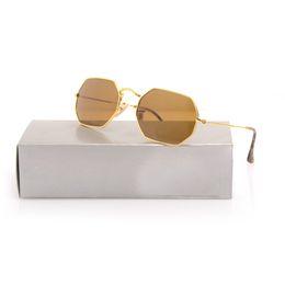 c737e120713 Top Quality New Sunglasses 3556 For Man Woman Eyewear Designer Brand Sun  Glasses Octagonal Sun glasses UV400 Lenses Green Lens come with Box
