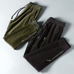 mens full length yoga pants 2019 - 2018 winter new mens high quality fabric sweatpants designer jogging track jpants ~ luxury yoga joggers track sweat pant