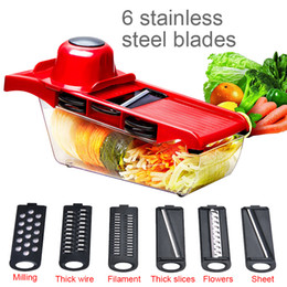 multi functional peeler NZ - 5in1 Multi-functional Fruit Vegetable Tools Slicer Cutter Peeler Finger Protector Fruit Tools Kitchen Accessories