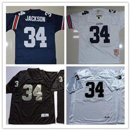 b5eaeb5f2 Mens NCAA Auburn Tigers Bo Jackson College Football Jerseys Stitched White  Black  34 Bo Jackson Oakland Jersey S-3XL