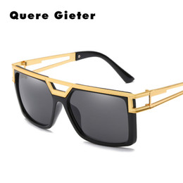 29fef8b475 Negro blanco Pastic marcos de metal para hombre gafas de sol hombres mujeres  moda cuadrado Retro de gran tamaño Hollow gafas de sol para hombre goggle  ...