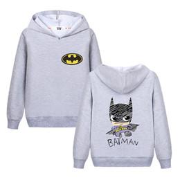 d087e66a Мальчик Бэтмен графический толстовки дети супергерой логотип толстовка  хлопок осень пальто девочка вышитые знак одежда ChildrenTops