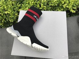 $enCountryForm.capitalKeyWord Australia - VETEMENT x Ree Sock Trainer Dropping Trainer Casual Shoe Man Woman Socks Stretch Knit Outdoors Speed Knit Sock High-Top Training Sneakers