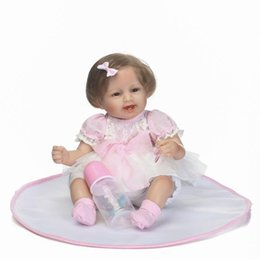 diy inflatables Australia - Wholesale- 40CM Lifelike lol baby girl dolls 16inch reborn babies vinyl doll silicone reborn complete doll marioneta toys for girls kids