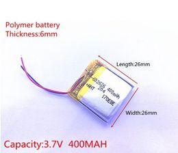 Battery Gps Polymer Australia - 3.7V 400mAH 602525 602626 PLIB polymer lithium ion   Li-ion battery for SMART WATCH GPS