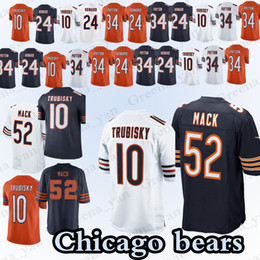 52 Khalil Mack Chicago bears jerseys 10 Mitchell Trubisky 34 Walter Payton  24 Howard 54 Brian Urlacher Jersey 2019 new c07df17da