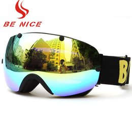 $enCountryForm.capitalKeyWord Australia - Benice Women Ski Goggles Double Lens Anti-Fog Big Spherical Professional Snowboard Points Glasses Men Ski Goggles Myopia Glass