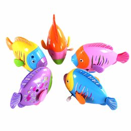 Pools For Babies UK - Plastic Fish Baby Not Afraid To Take bath Funny Swimming Pool Toys For Baby Kids Toys Bath Clockwork Wind Up