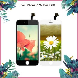 $enCountryForm.capitalKeyWord NZ - 10PCS Chepest!! For iphone 6 & 6 Plus Display Touch Panels Repair Replacement Black White Color Grade A++ LCD Display DHL free shipinng