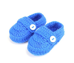 Soft Sole Shoes For Babies NZ - 2018 new fashion soft sole baby shoes for boy newborn boy girls knitting handmade infant shoes baby first walkers