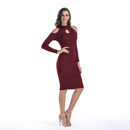 8a59f79159 Women Sweater Dress Fall Winter Long Sexy Bodycon Dresses Turtleneck Off  Shoulder Long Sleeve Striped Knitted Dress