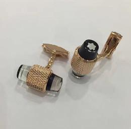 Frete grátis-luxo mais popular da Europa High-end francês mb abotoaduras, o sinal de homem bem sucedido cufflink venda por atacado