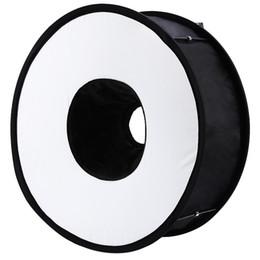 Lightdow 45cm Anillo plegable Speedlite Difusor de flash Macro Disparo Softbox redondo para Canon Nikon Sony Pentax Godox Speedlight en venta