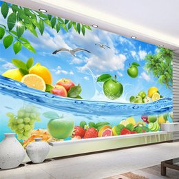 Kitchen Shops NZ - HD Fruit Seawater Fresh Summer Photo Wallpaper 3D Wall Mural Fruit Shop Restaurant Kitchen Backdrop Wall Decor