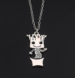 $enCountryForm.capitalKeyWord Australia - Movie Jewelry Charm Necklace Baby Groot Pendant Guardians of The Galaxy Necklace Designs Silver Plated Movie Jewelry Groot Kawaii Jewelry